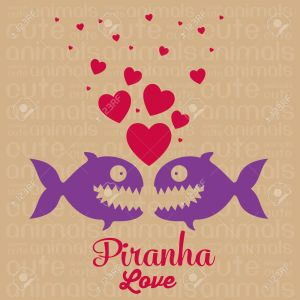 17888844-Illustration-von-Cute-Animals-Piranha-Liebe-Vektor-Illustration-Lizenzfreie-Bilder